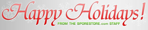 HAPPY HOLIDAYS from SporeStore.com!